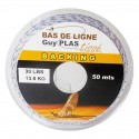 Backing 30lbs 50m - Blanc et Bleu BDL Guy Plas