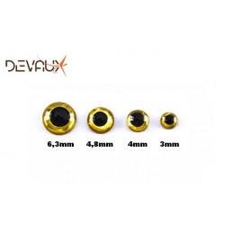 Yeux 3D HOLOGRAPHIQUE Or DVX