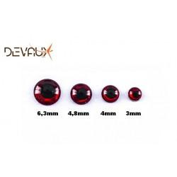 Yeux 3D HOLOGRAPHIQUE Rouge DVX